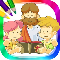 The bible for children - Drawings to paint and book to color