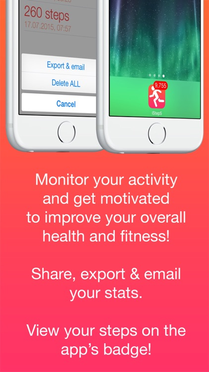 iStep5 - Pedometer - Daily Activity - Steps, Distance, Calories counter screenshot-4