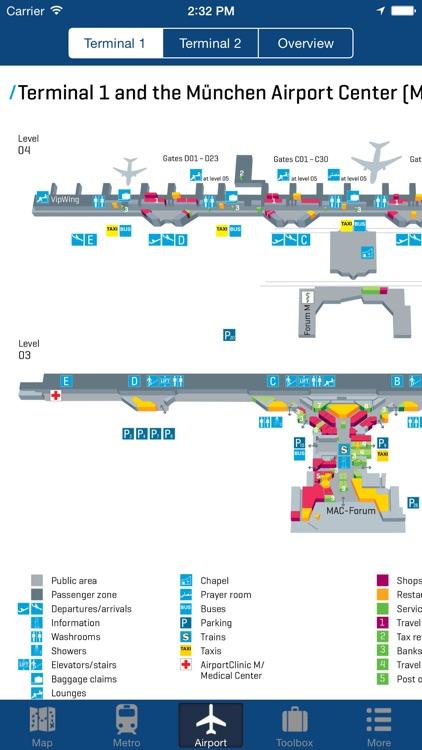 Munich Offline Map - City Metro Airport