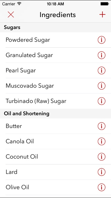 Cake - ingredient conversion app