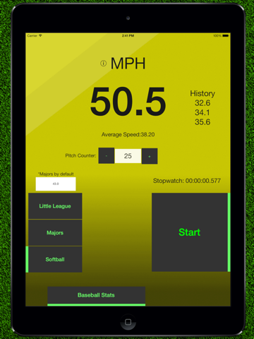 Baseball Pitch Speed - Radar Gun screenshot