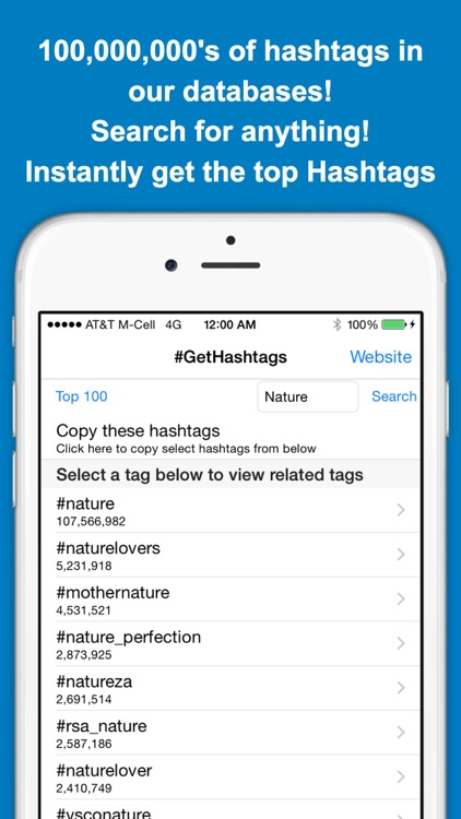 GetHashtags - Copy & Paste Most Popular Hashtags for Instagram