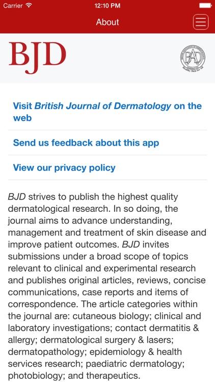 British Journal of Dermatology screenshot-4