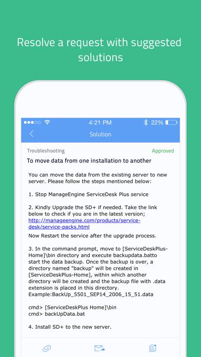 IT helpdesk   ServiceDesk Plus - App - iOS me