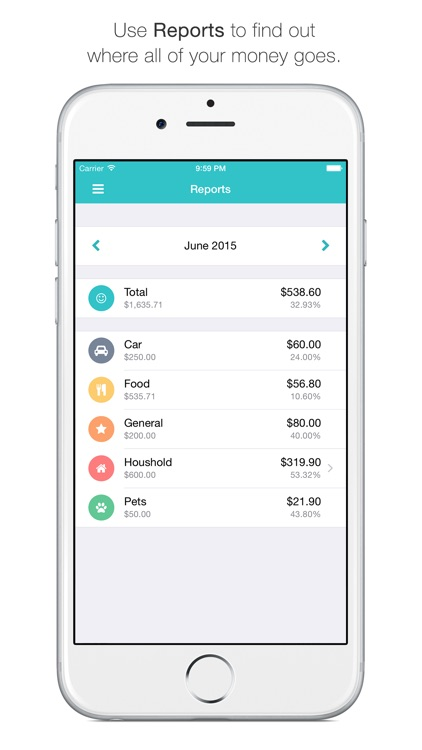 Spendy - The fastest and most efficient way to keep your expenses, budgets and loans in mind screenshot-4