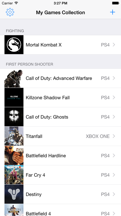 My Games Collection screenshot one