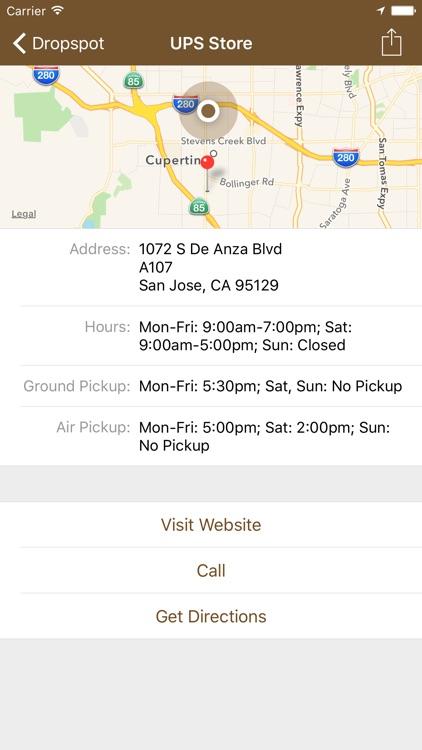 Dropspot - Find UPS Locations