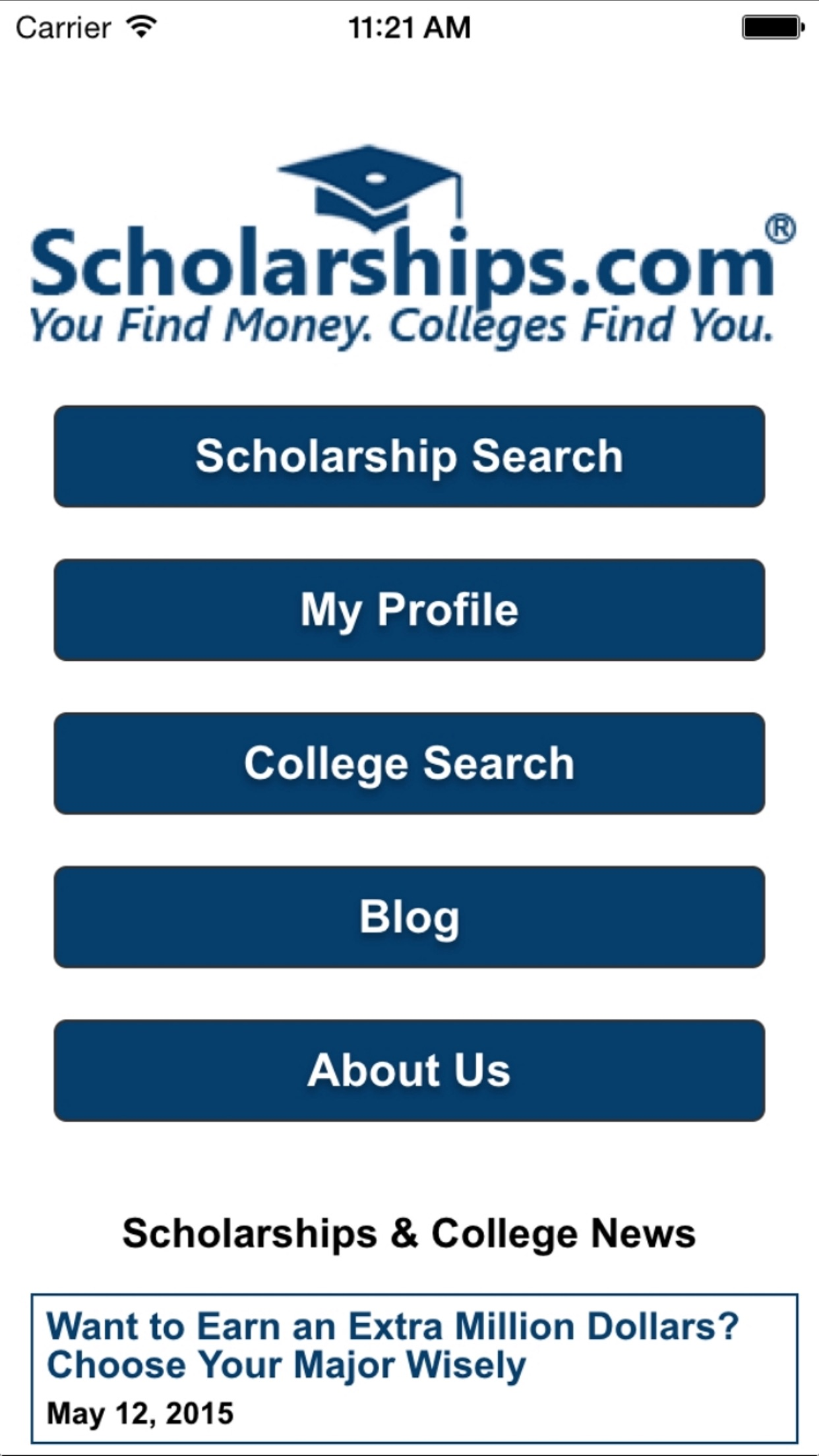 Scholarships.com Screenshot