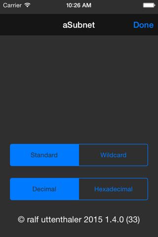 Screenshot of aSubnet