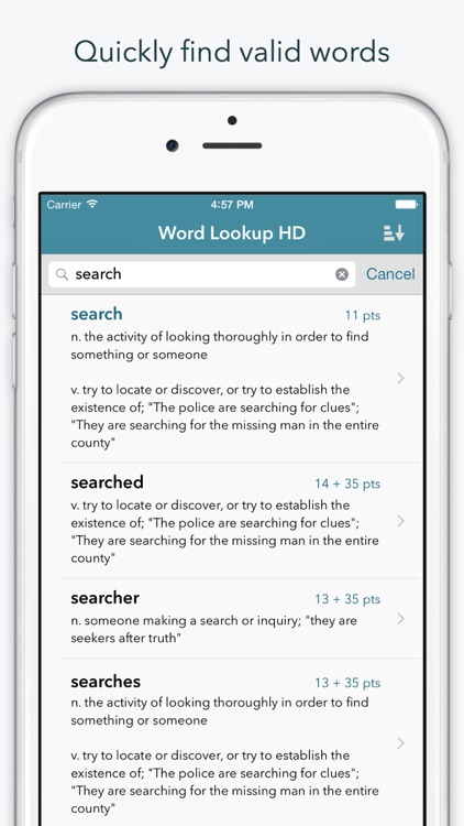 """Word Lookup HD — Dictionary and Anagram Finder for """"Words With Friends"""""""