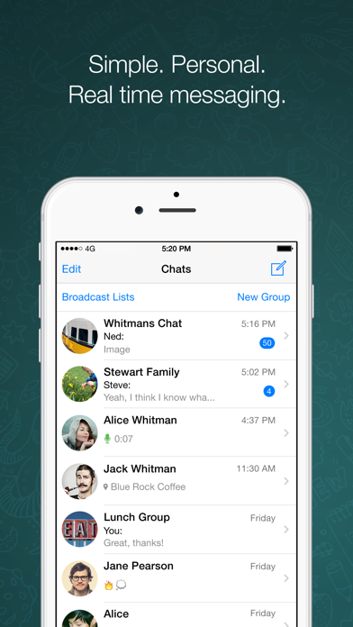 Screenshot for WhatsApp Messenger in United States App Store