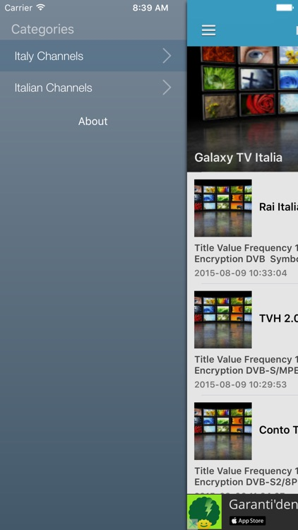 Italy TV Channels Sat Info by Murat Akdas