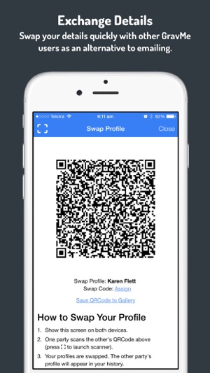 Gravme the true digital business card app on the app store colourmoves