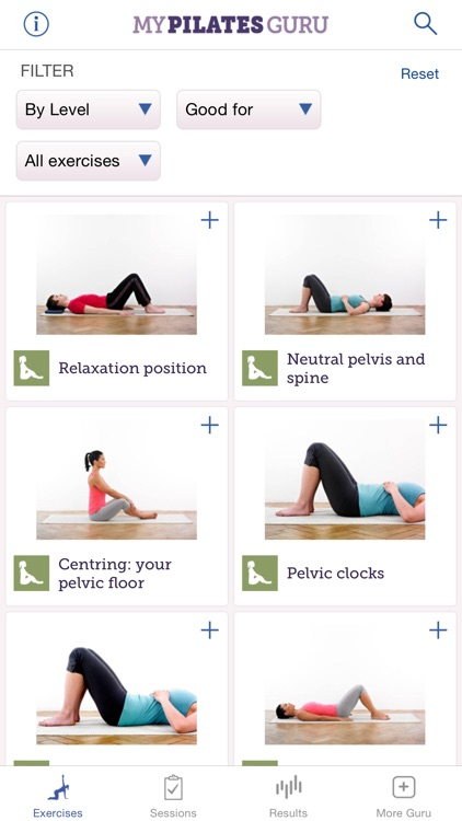 My Pilates Guru: Pilates exercises for fitness, well-being and relaxation screenshot-2