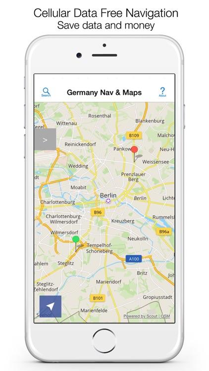 Germany Offline Maps & Offline Navigation screenshot-0