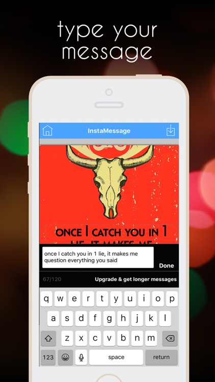 InstaMessage - Post Text Messages on Instagram