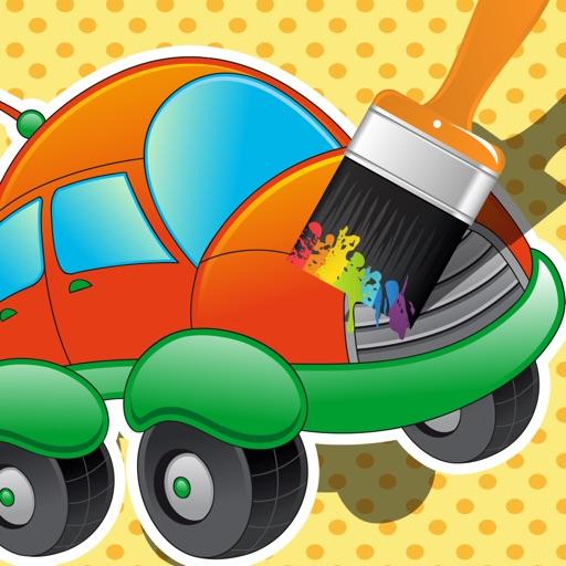 Активность! Книжка-раскраска Автомобилей Для Детей: Научиться Рисовать Транспортные Средства