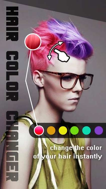 Hair Color Changer Pro - Recolor Booth to Dye, Change & Beautify Hairstyle screenshot-0