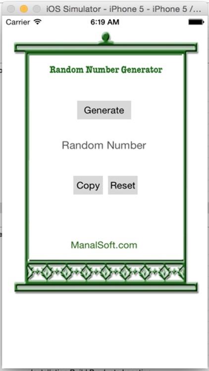 Random Number Generator 1
