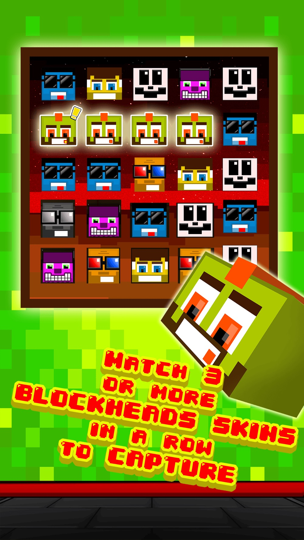 Funny Pixel Faces on Blocks Match 3 Puzzle Game hack tool