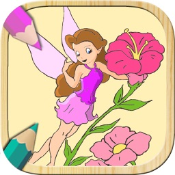 Paint fairies. Funny fairies games for girls. Learning game for boys and girls. Fingerpaint