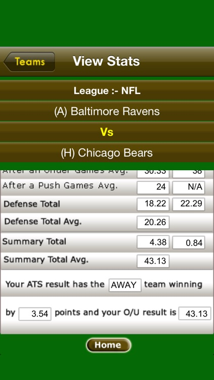 ATS Calculator-Sports Predictions Software screenshot-3