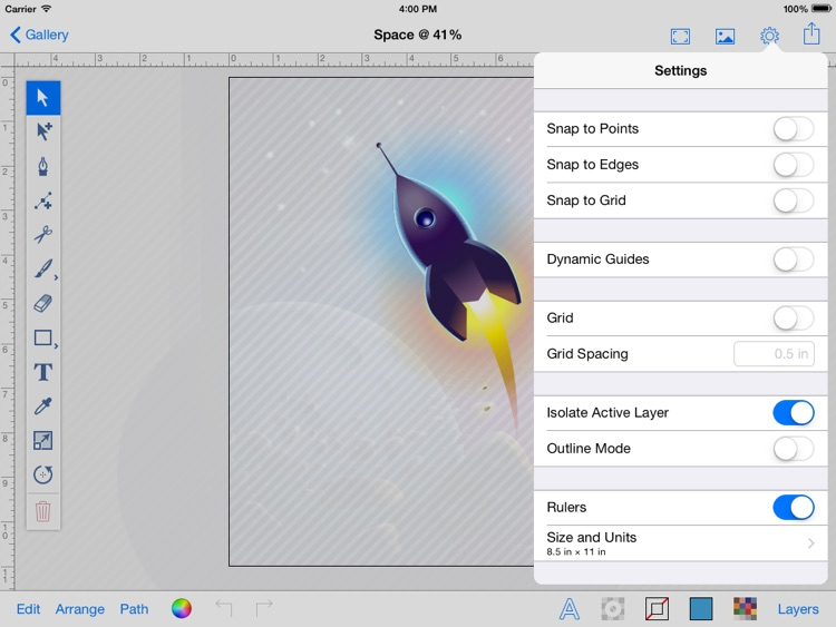 Vector PaintPad (vector graphics editor) screenshot-3
