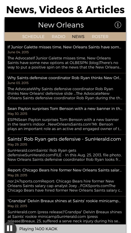 New Orleans Football Radio & Live Scores screenshot-4