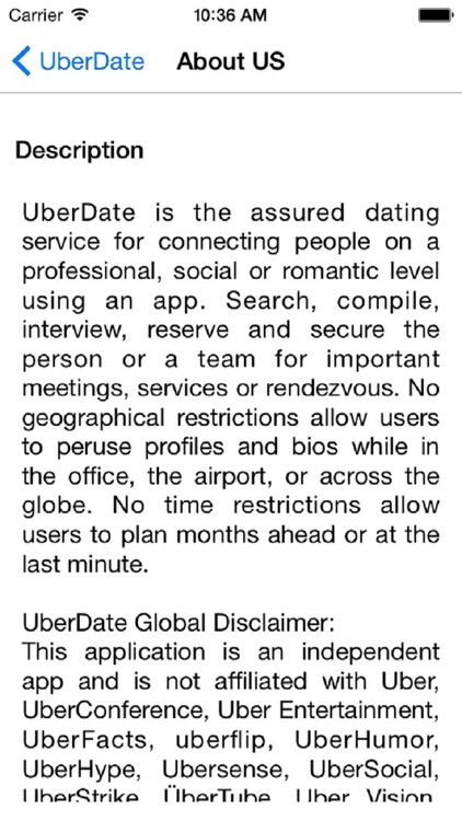 Rendezvous dating service