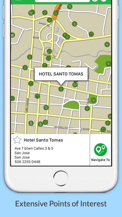 Costa Rica GPS Map