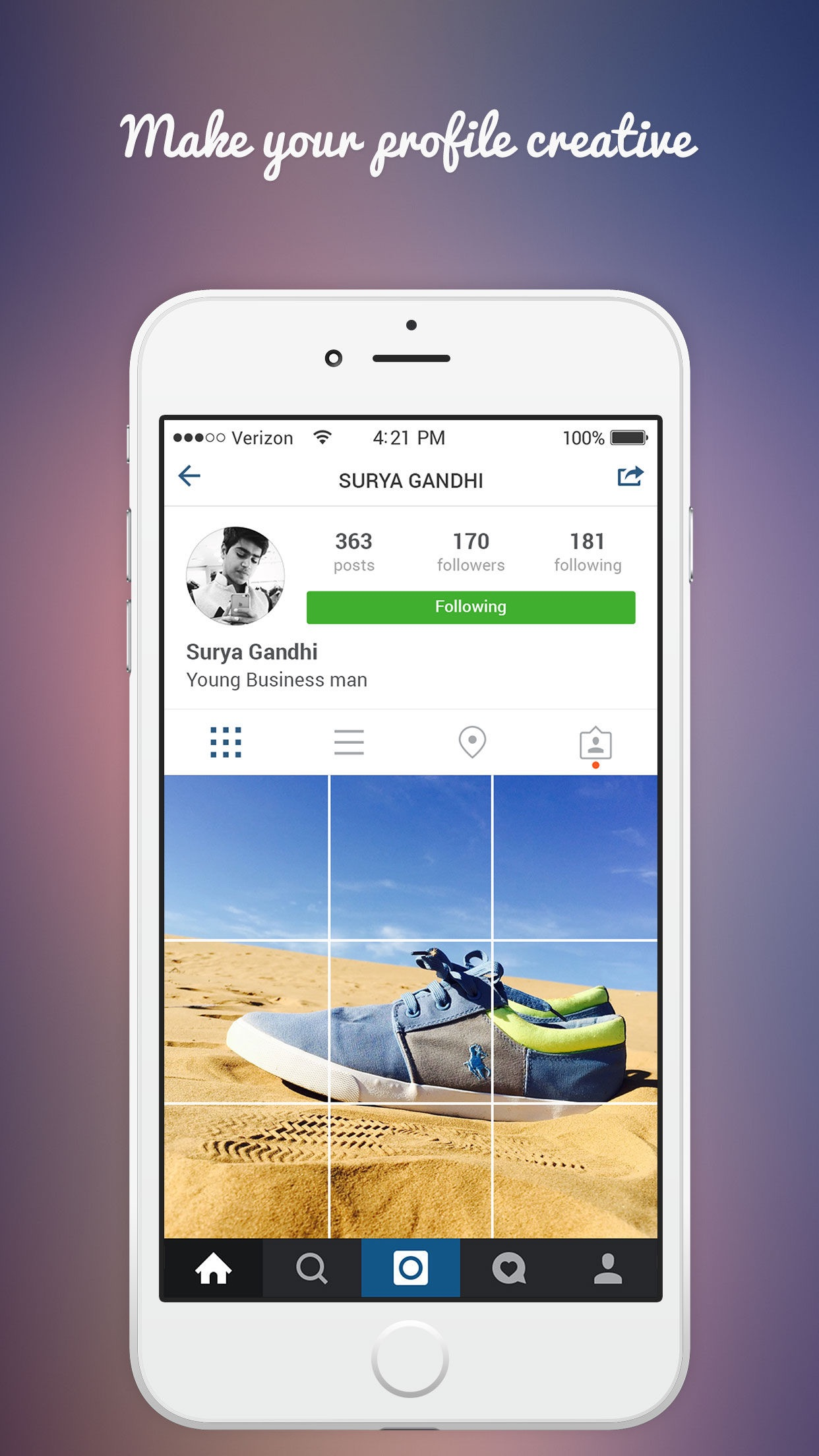 Grid Post for instagram-Photo Editor Booth to Upload Full Banner On Ig Screenshot