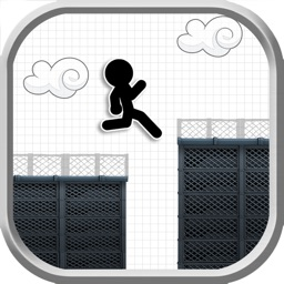 Line Rooftop Run : Stickman Escape Runner Pro Edition
