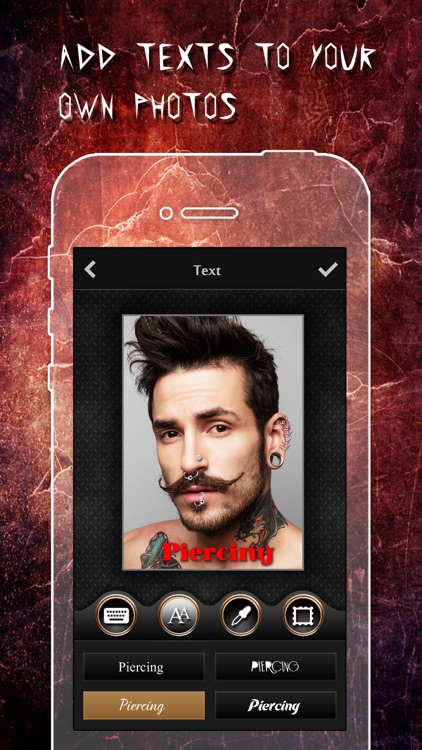 Piercing & Tattoo Booth FREE - Add Virtual Piercings & Tattoos to make body art inked or pierced screenshot-3