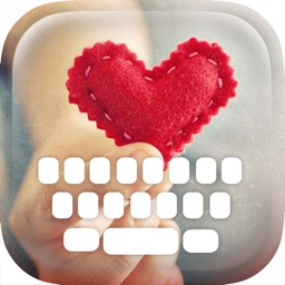 Custom Keyboard Love In My Heart : Color & Wallpaper Themes in the Valentine Sweet Style