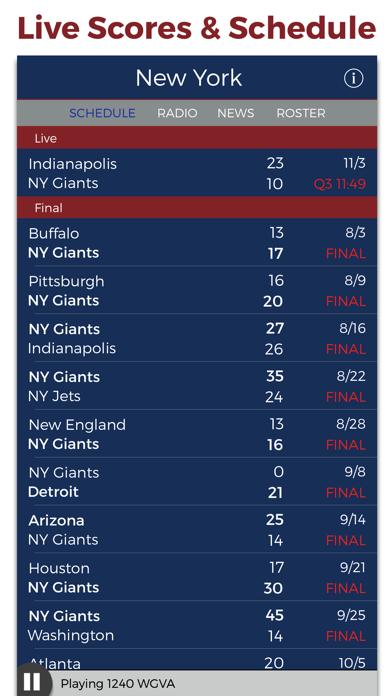 New York Football Radio & Live Scores screenshot three