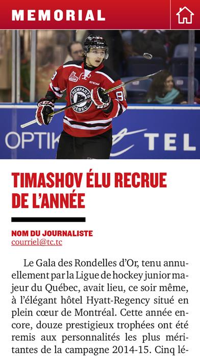Québec Hebdo Memorial screenshot three
