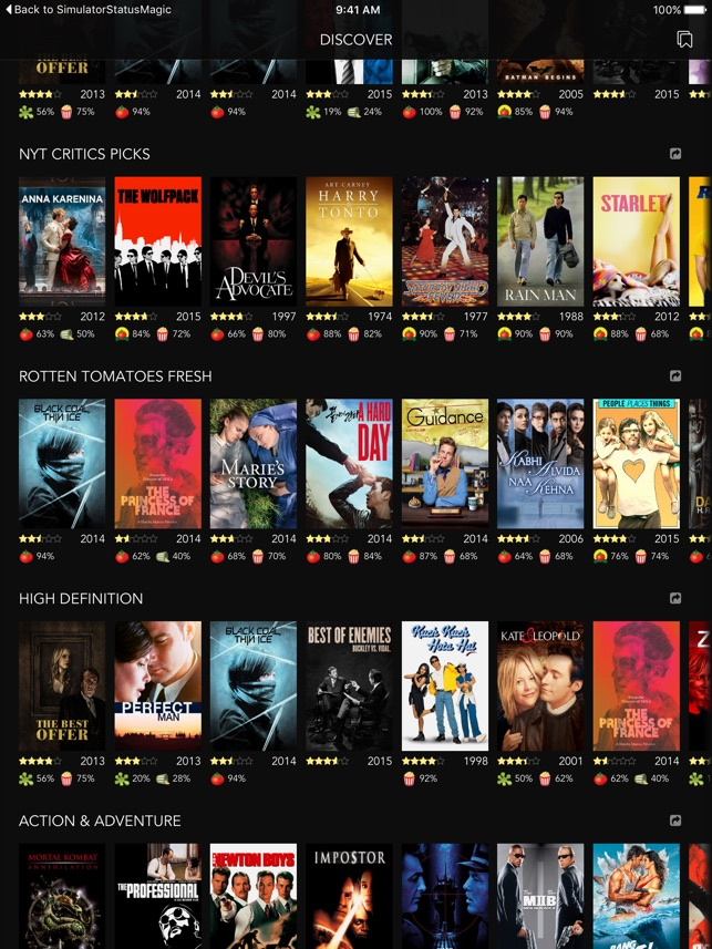 Discover Premium : for Netflix Unlimited with Rotten Tomatoes Ratings and Queue Pro Screenshot