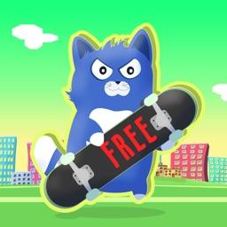 Little Kitty on a skateboard , the cat skate simulator - FREE