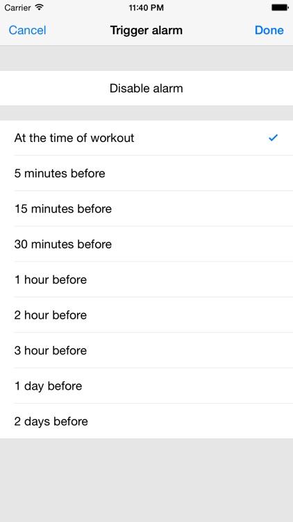 Workout Calendar - Motivation and Health screenshot-3