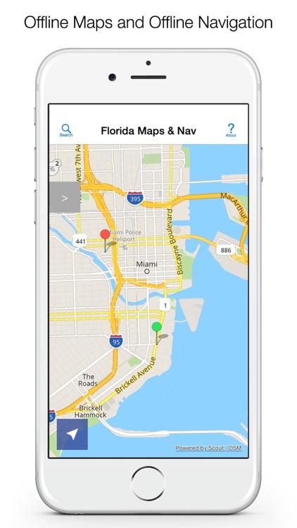 Florida Offline Maps and Offline Navigation screenshot-0
