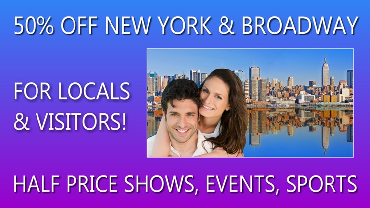 50% Off New York City & Broadway Events, Shows & Sports Guide Plus by Wonderiffic  ® screenshot-0