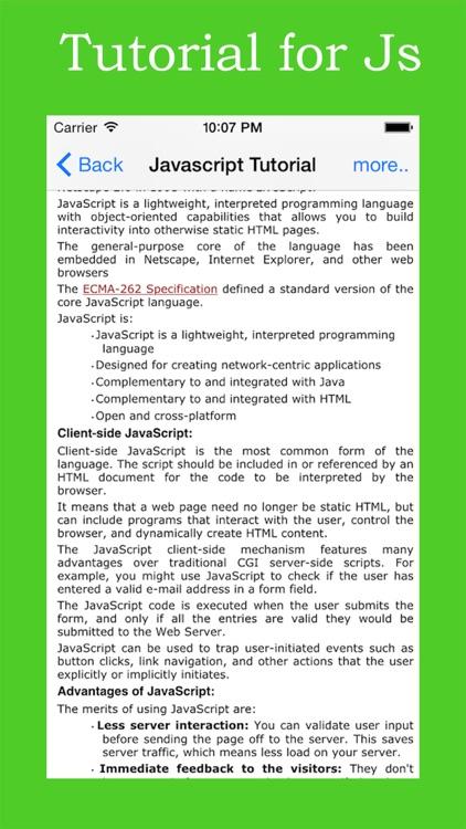Tutorial for Java Script screenshot-3