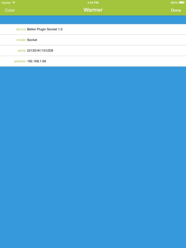 WeTap! for Belkin WeMo Screenshot