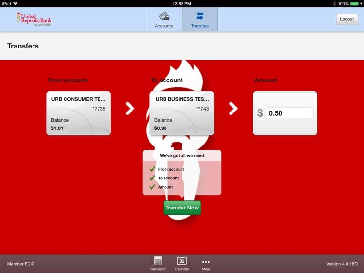 URB Mobile Banking for iPad screenshot-3