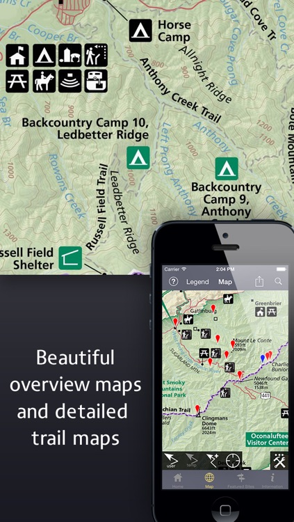 Equator Maps: Great Smoky Mountains National Park screenshot-3