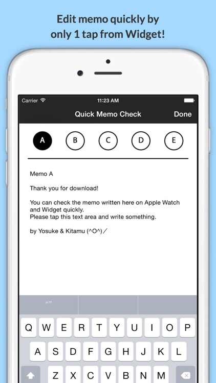 Quick Memo Check - check memos quickly on Watch and Widget screenshot-3