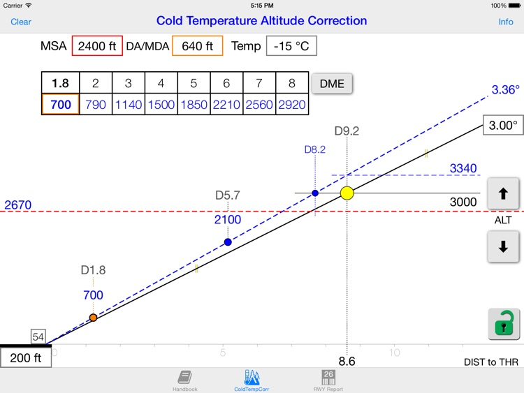 Cold WXR Altitude Correction