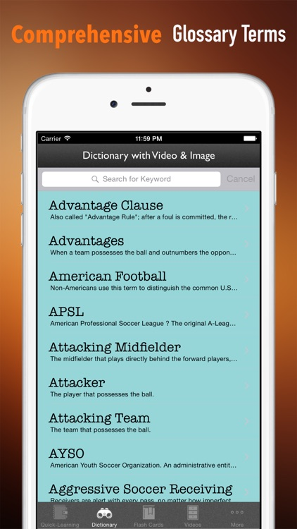 Soccer 101: Quick Learning Reference with Video Lessons and Glossary screenshot-2