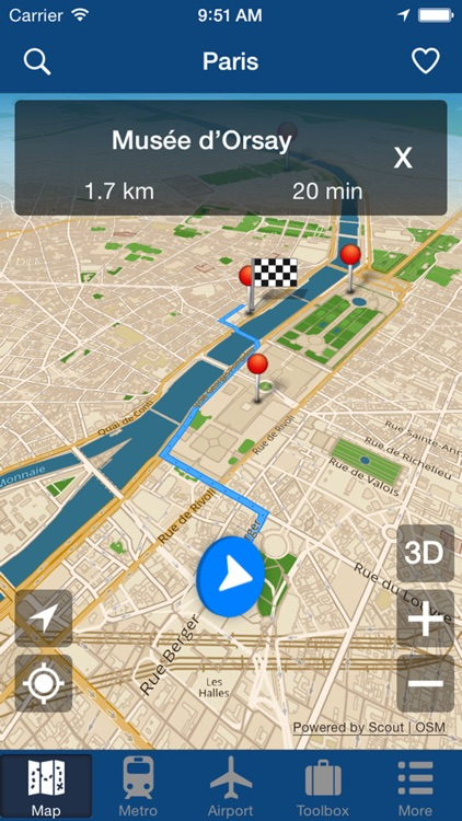 Paris Offline Map - City Metro Airport and Travel Plan screenshot-4