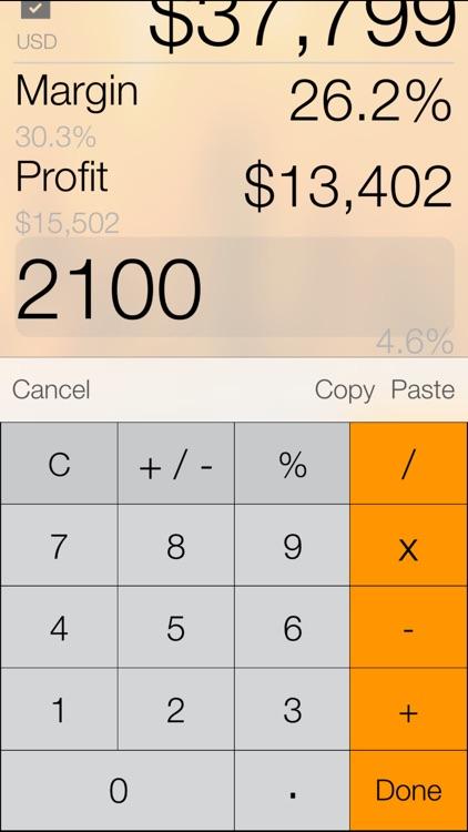 Margin+ (Margin & Markup Analysis Calculator) screenshot-3